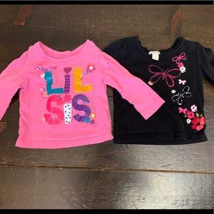 Children's Place 6-9 months long sleeved tee's